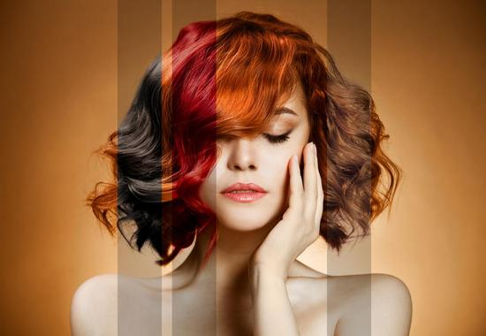 Colour options for hair dye at our Hair salon in Royal Leamington Spa and Warwick