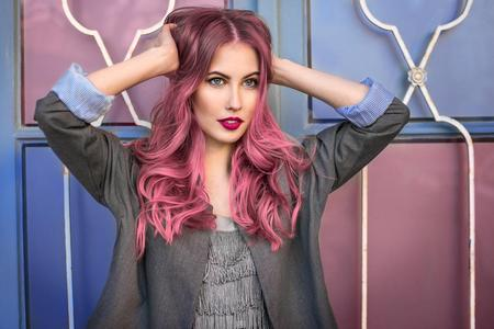 Steal pink dip dye at hair salon Royal Leamington Spa and Warwick